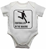 Footballer in The Making - Baby Vests Bodysuits for Boys, Girls
