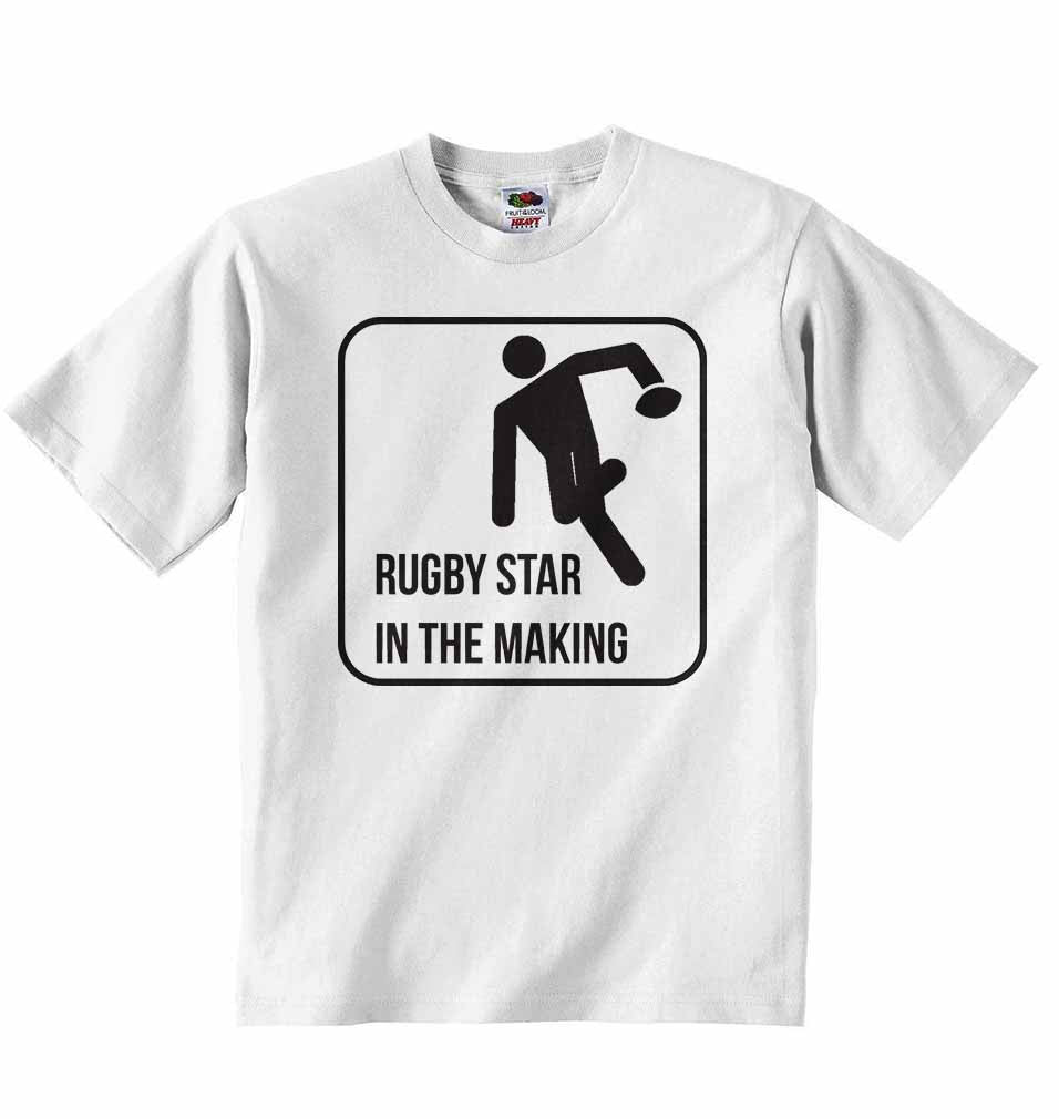Rugby Star in The Making - Baby T-shirt