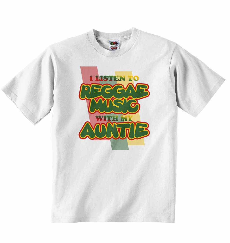 I Listen to Reggae Music With My Auntie - Baby T-shirt
