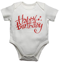 Happy Birthday Baby Vests Bodysuits