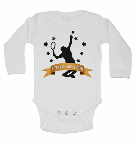A Tennis Star is Born - Long Sleeve Baby Vests