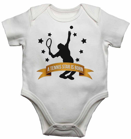 A Tennis Star is Born - Baby Vests Bodysuits for Boys, Girls