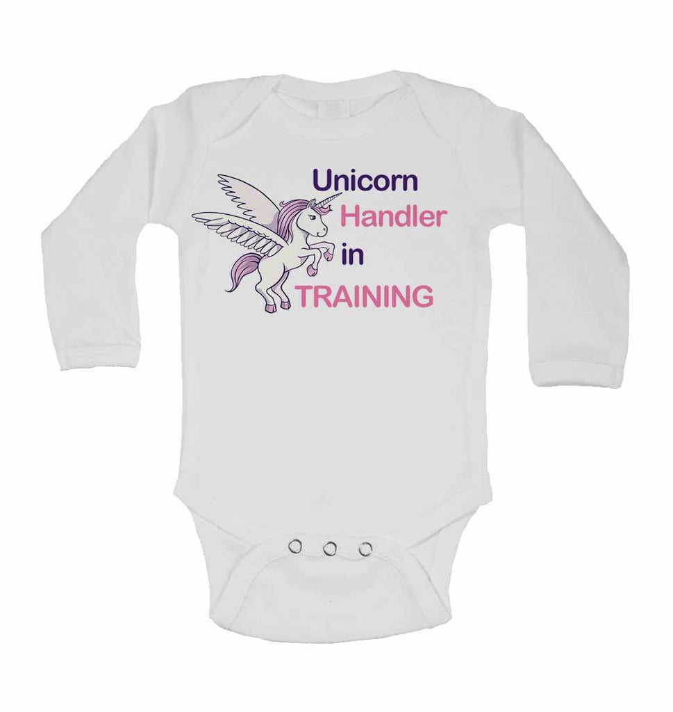 Unicorn Handler in Training - Long Sleeve Baby Vests