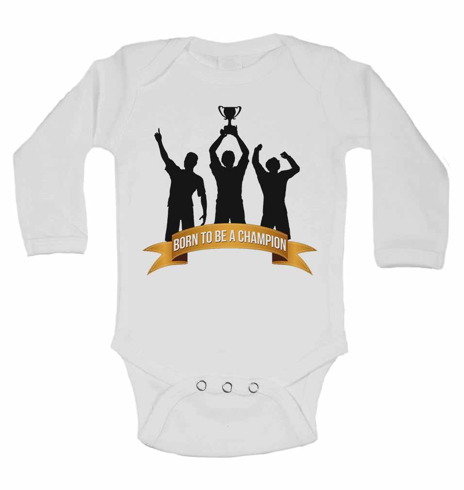 Born to Be a Champion - Long Sleeve Baby Vests