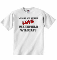 Me and My Auntie Love Wakefield Wildcats - Baby T-shirt
