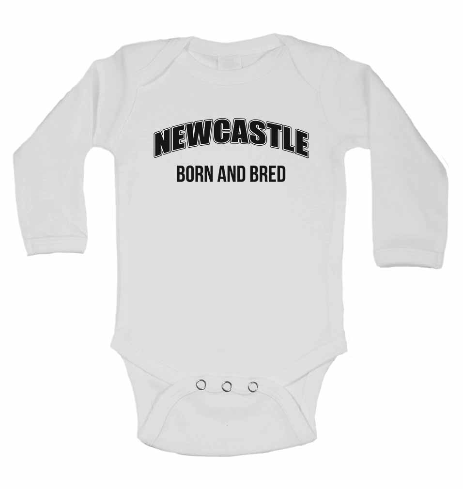 Newcastle Born and Bred - Long Sleeve Baby Vests for Boys & Girls