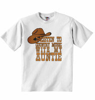 I Listen to Country Music With My Auntie - Baby T-shirt