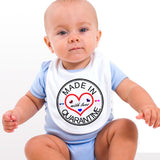 Personalised Soft Cotton Baby Bib Made in Quarantine with Love For Boys & Girls