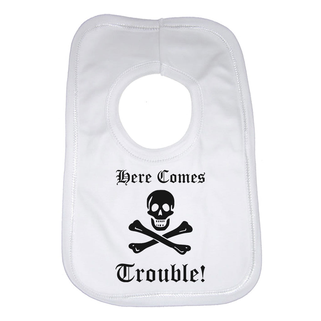 There Comes Trouble! Baby Bibs