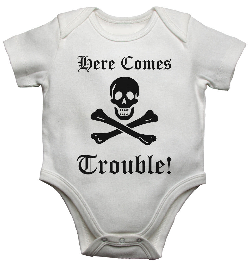 There Comes Trouble! Baby Vests Bodysuits