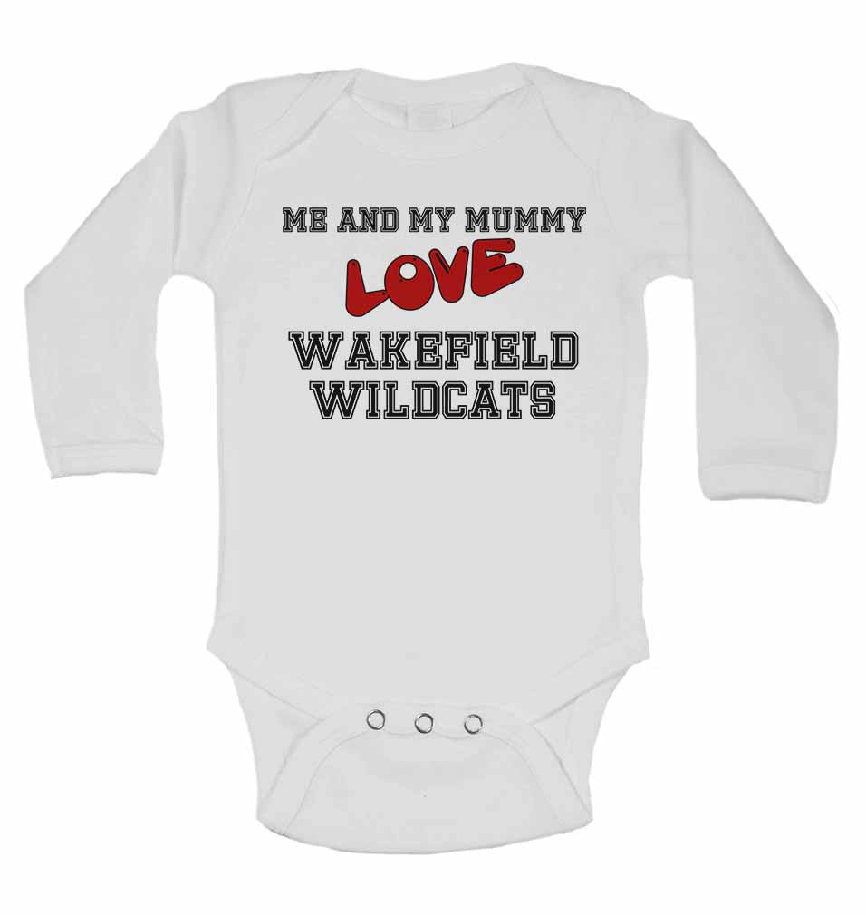 Me and My Mummy Love Wakefield Wildcats - Long Sleeve Baby Vests for Boys & Girls