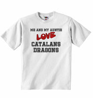 Me and My Auntie Love Catalans Dragons - Baby T-shirt