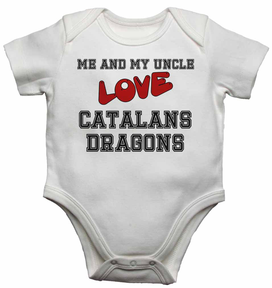 Me and My Uncle Love Catalans Dragons - Baby Vests Bodysuits for Boys, Girls