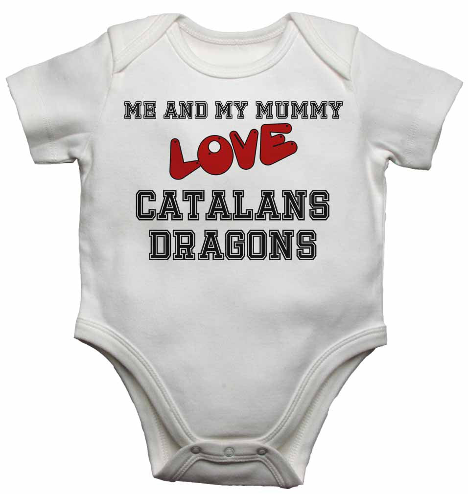 Me and My Mummy Love Catalans Dragons - Baby Vests Bodysuits for Boys, Girls