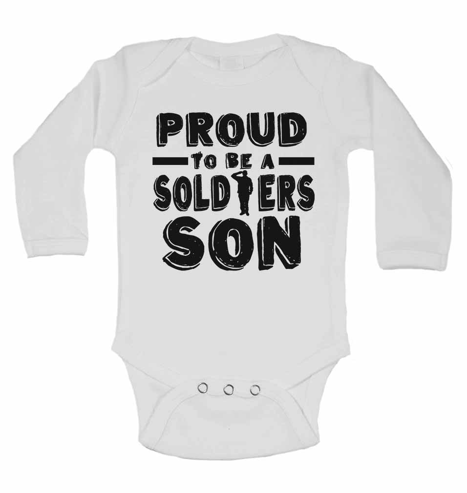Proud to Be a Soldiers Son - Long Sleeve Baby Vests