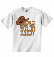 I Listen to Country Music With My Daddy - Baby T-shirt