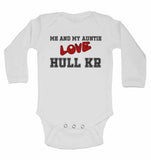 Me and My Auntie Love Hull Kingston Rovers  - Long Sleeve Baby Vests for Boys & Girls