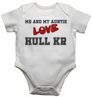 Me and My Auntie Love Hull Kingston Rovers  - Baby Vests Bodysuits for Boys, Girls