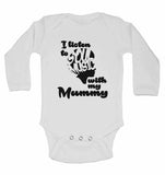 I Listen to Soul Music With My Mummy - Long Sleeve Baby Vests for Boys & Girls