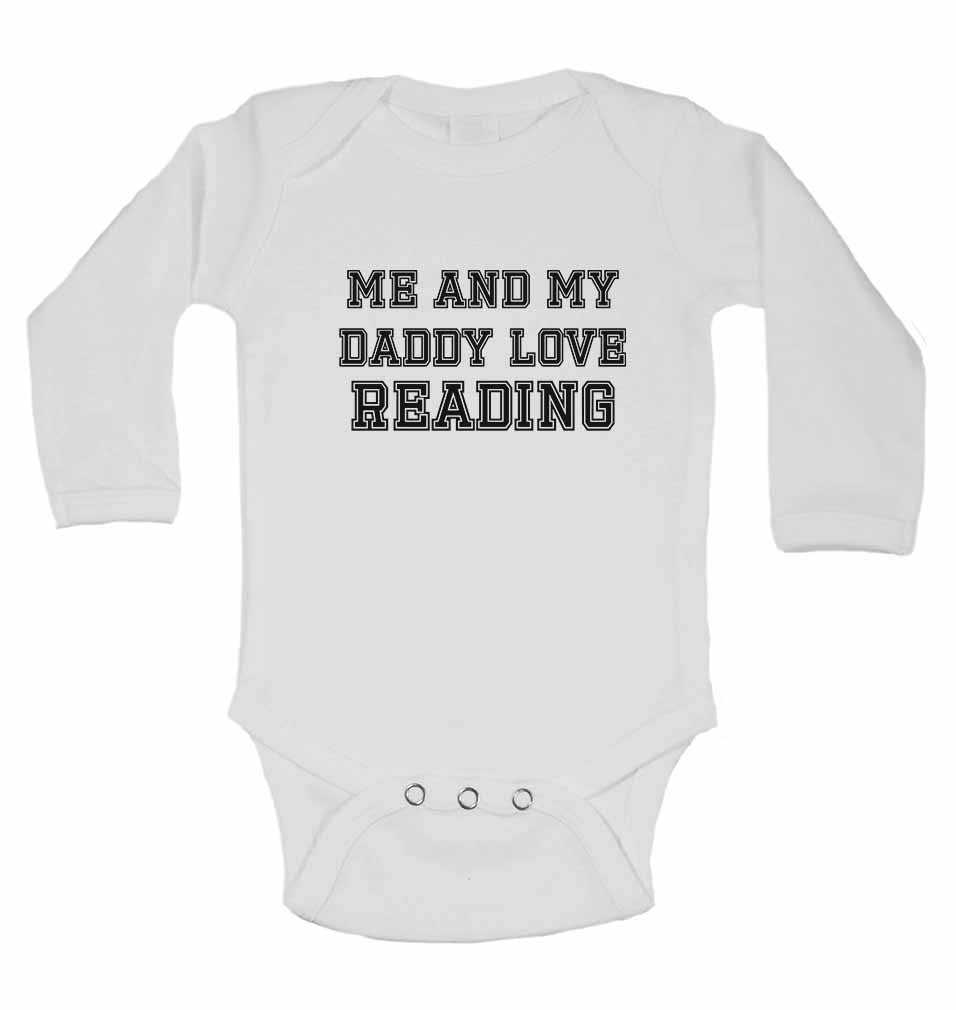 Me and My Daddy Love Reading, for Football, Soccer Fans - Long Sleeve Baby Vests