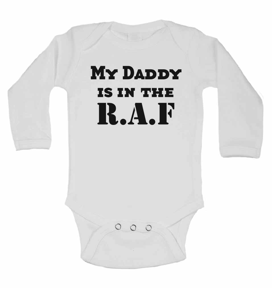 My Daddy is in The Royal Air Force - Long Sleeve Baby Vests