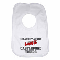 Me and My Auntie Love Castleford Tigers Boys Girls Baby Bibs