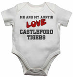 Me and My Auntie Love Castleford Tigers - Baby Vests Bodysuits for Boys, Girls