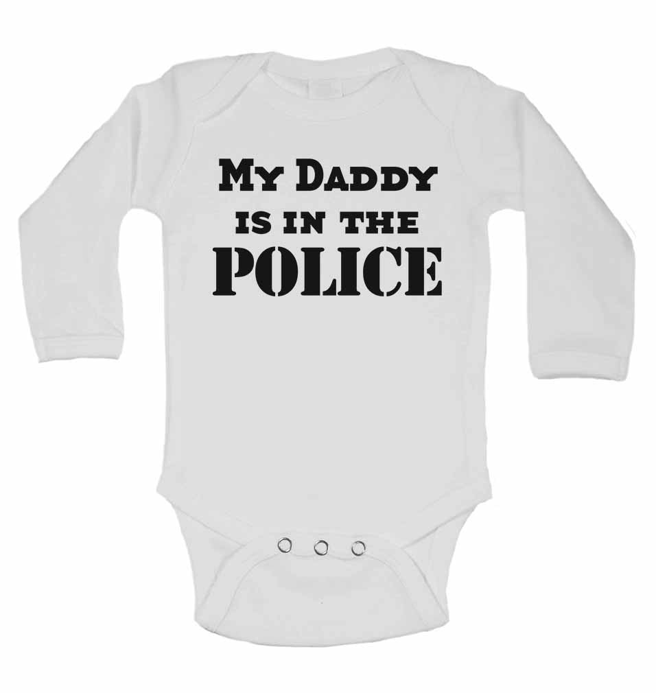 My Daddy is in The Police - Long Sleeve Baby Vests