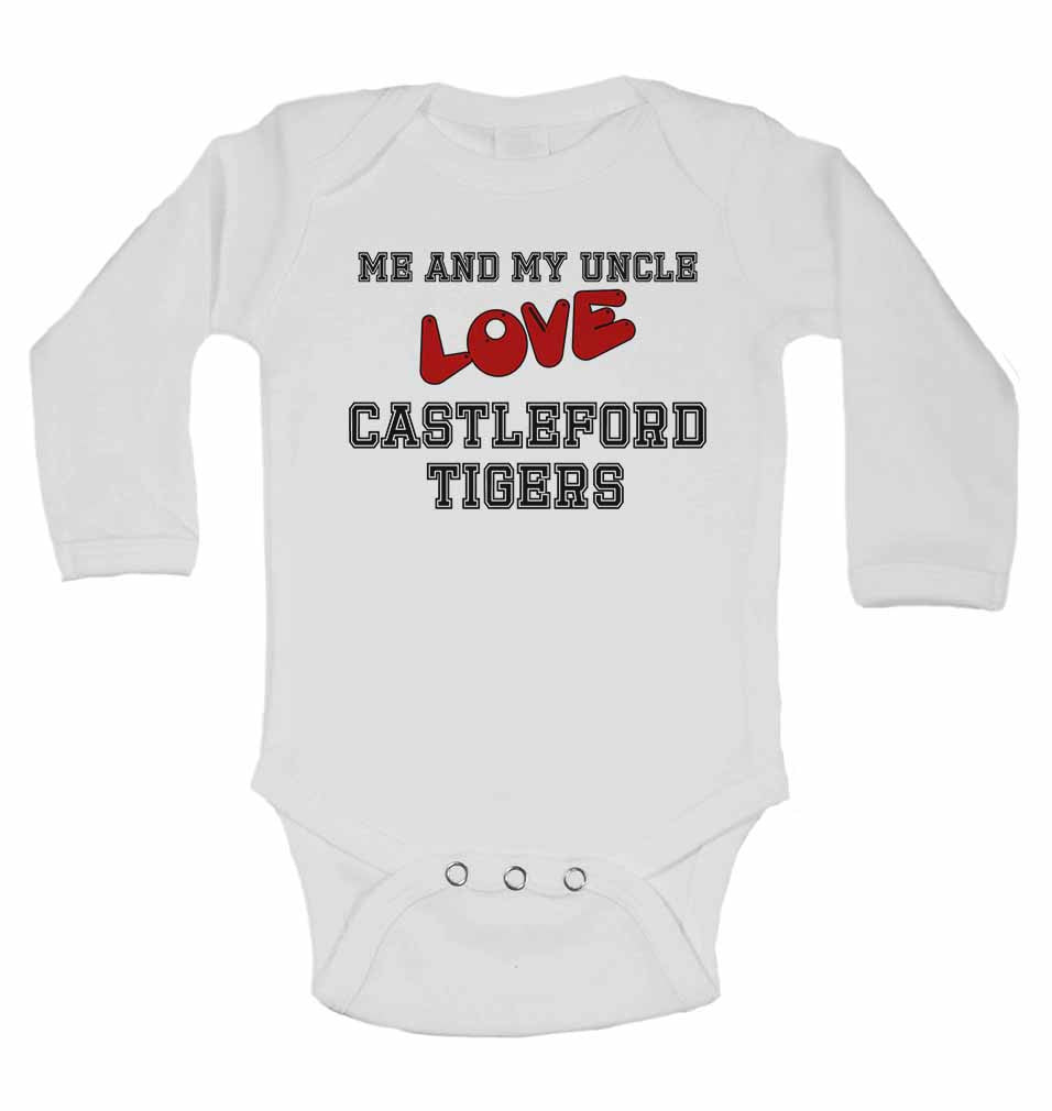 Me and My Uncle Love Castleford Tigers - Long Sleeve Baby Vests for Boys & Girls