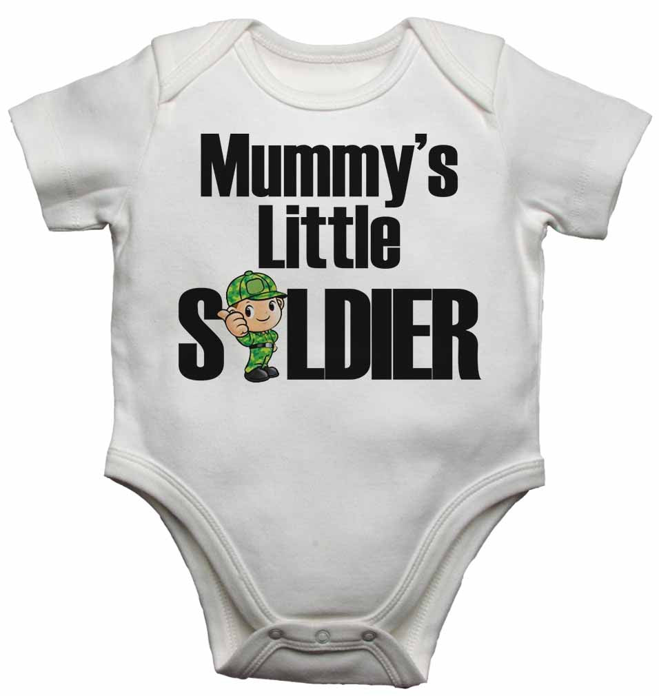 Mummy's Little Soldier - Baby Vests Bodysuits for Boys, Girls