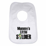Mummy's Little Soldier Boys Girls Baby Bibs