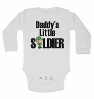 Daddy's Little Soldier - Long Sleeve Baby Vests