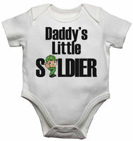Daddy's Little Soldier - Baby Vests Bodysuits for Boys, Girls