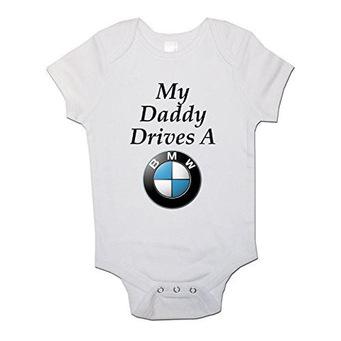 My Daddy Drives a BMW Baby Baby Vests Bodysuits