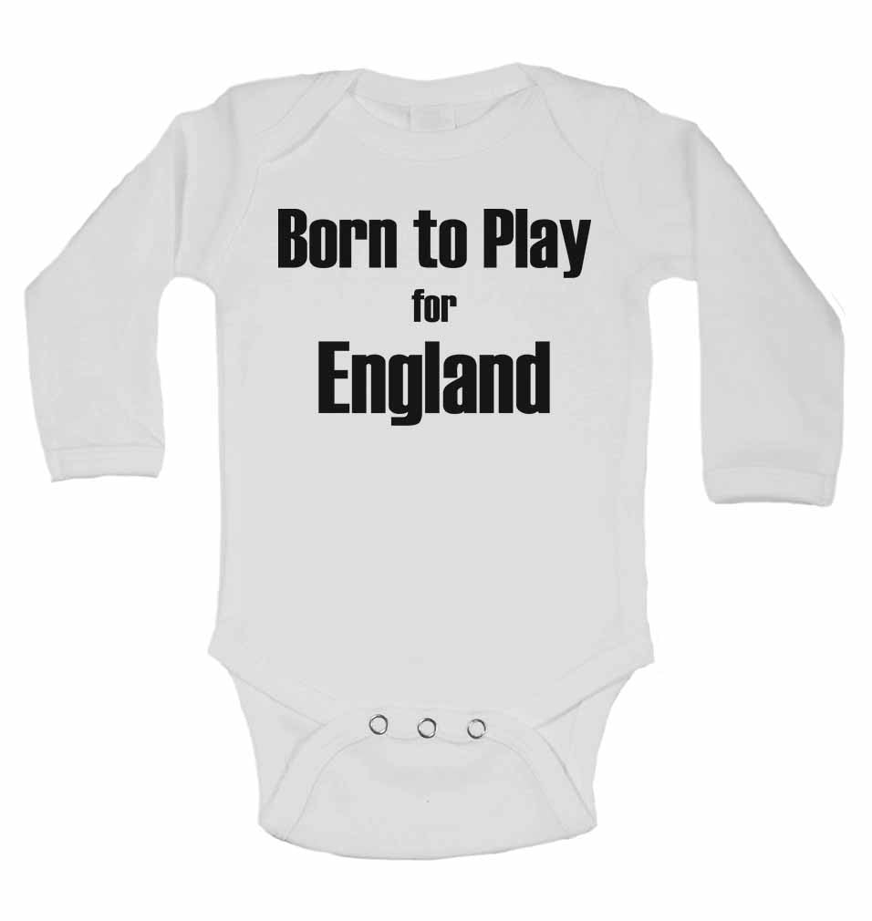 Born to Play for England - Long Sleeve Baby Vests