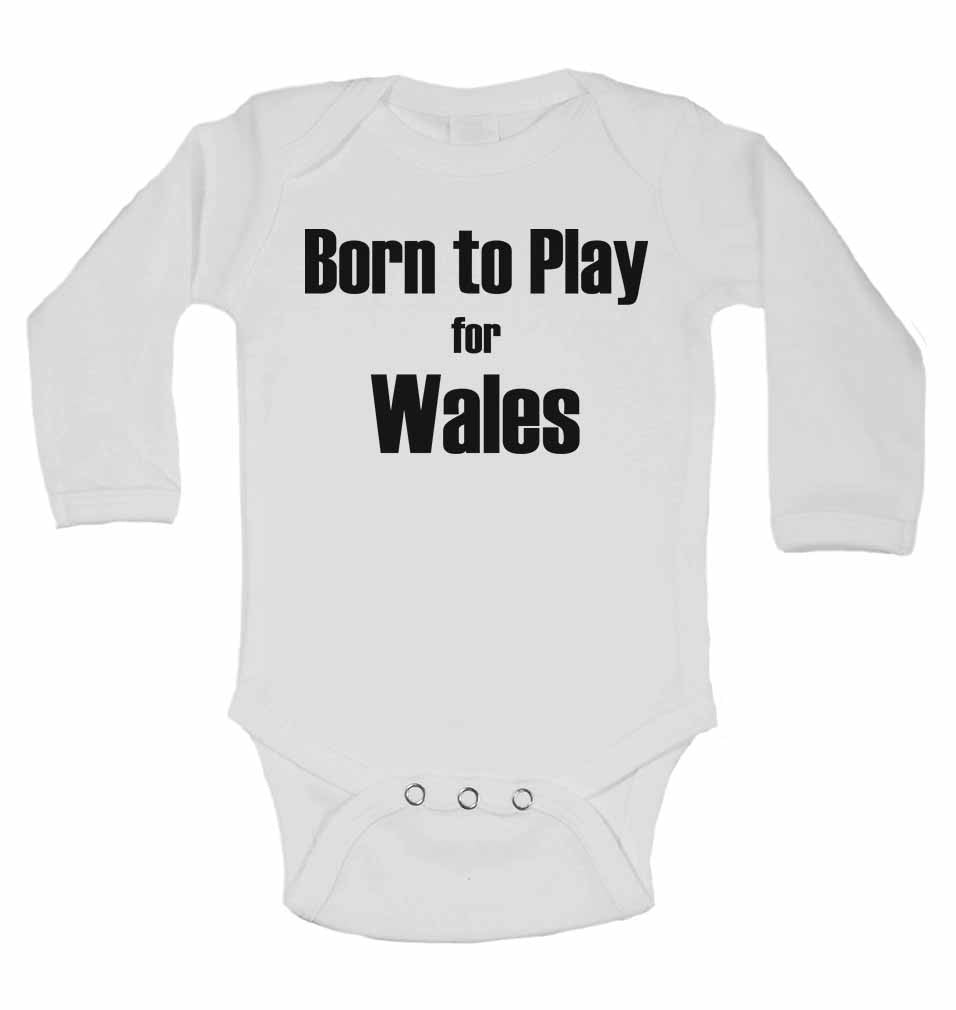 Born to Play for Wales - Long Sleeve Baby Vests