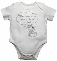 When I Grow Up Im Going to Play for Scotland - Baby Vests Bodysuits for Boys, Girls