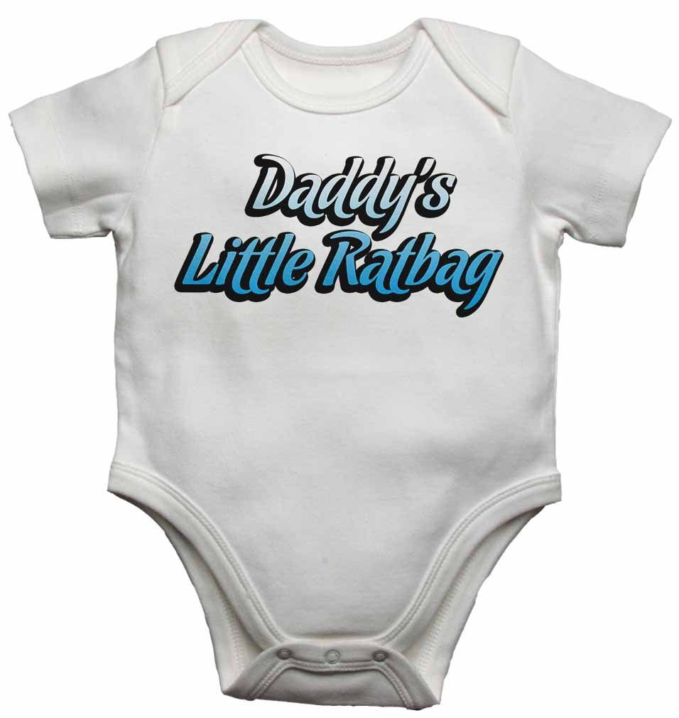 Dadddy's Little Ratbag - Baby Vests Bodysuits for Boys, Girls