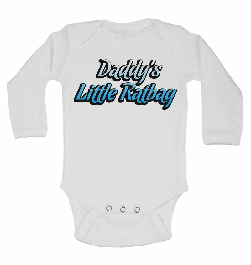 Dadddy's Little Ratbag - Long Sleeve Baby Vests