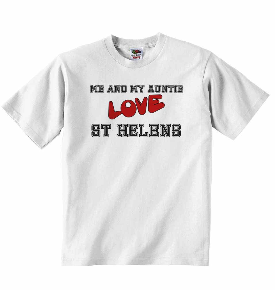 Me and My Auntie Love St Helens - Baby T-shirt