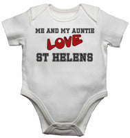 Me and My Auntie Love St Helens - Baby Vests Bodysuits for Boys, Girls