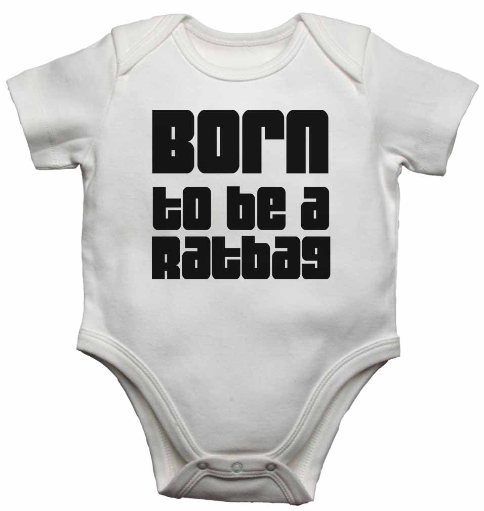 Born to Be a Ratbag - Baby Vests Bodysuits for Boys, Girls