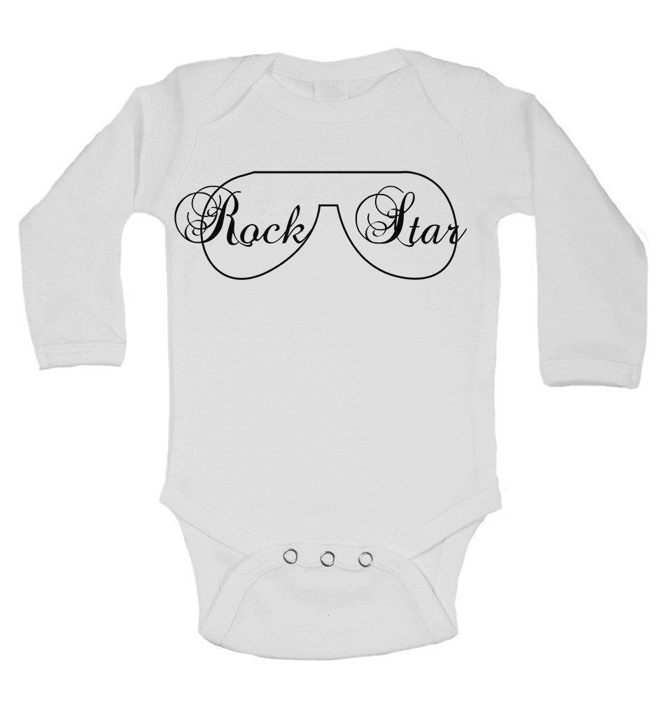 Rock Star Long Sleeve Baby Vests