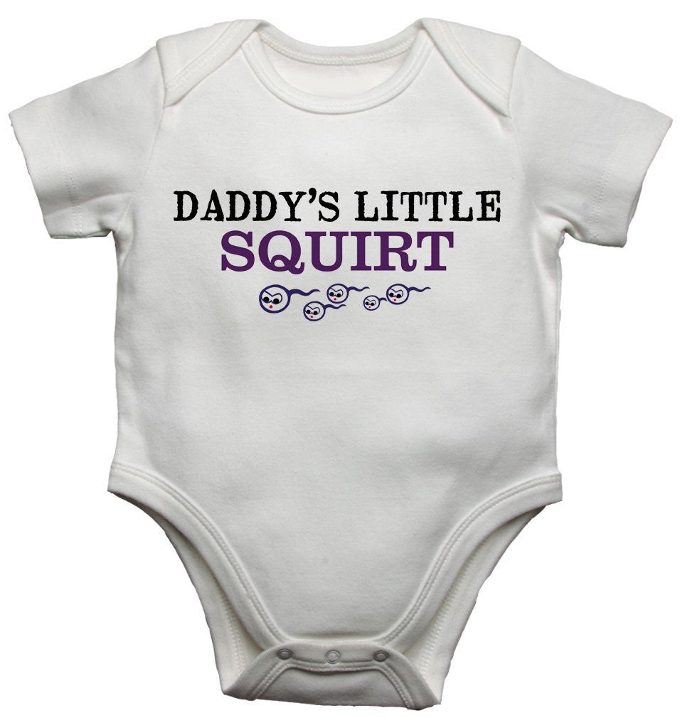 Daddys Little Squirt Baby Vests Bodysuits