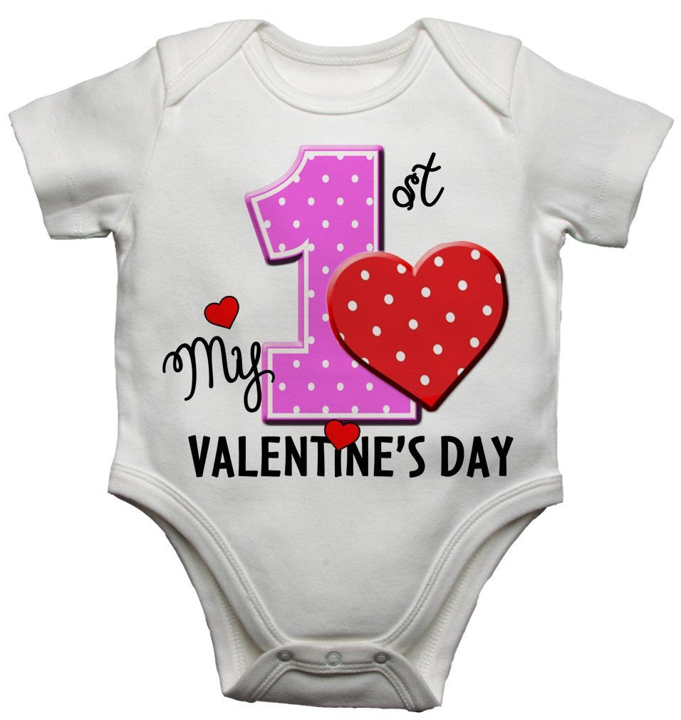 My First 1st Valentines Day Baby Vests Bodysuits