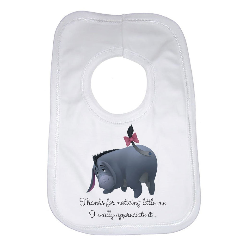 Thanks for Noticing Little Me Eeyore Baby Bib