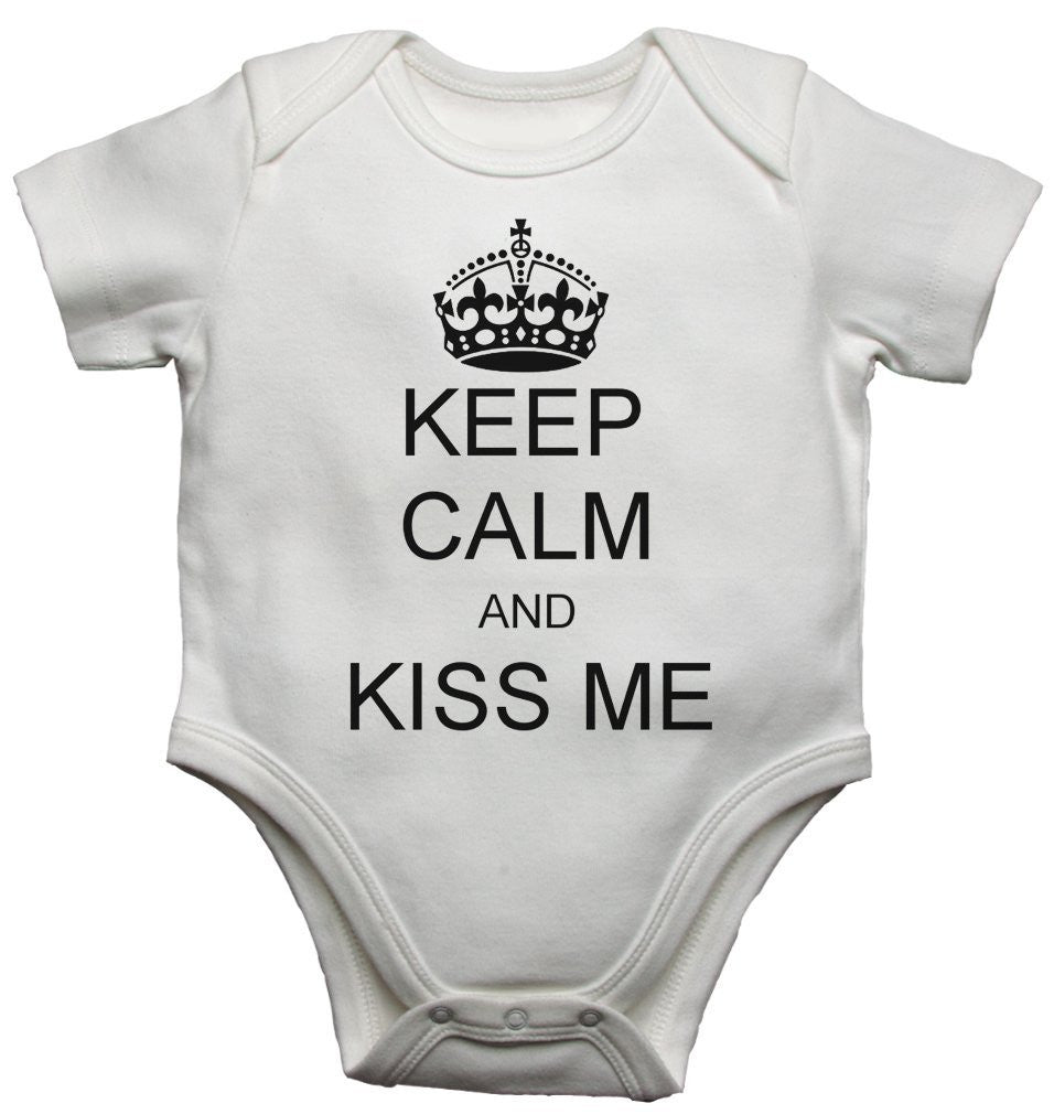 Keep Clam And kiss Me Baby Vests Bodysuits