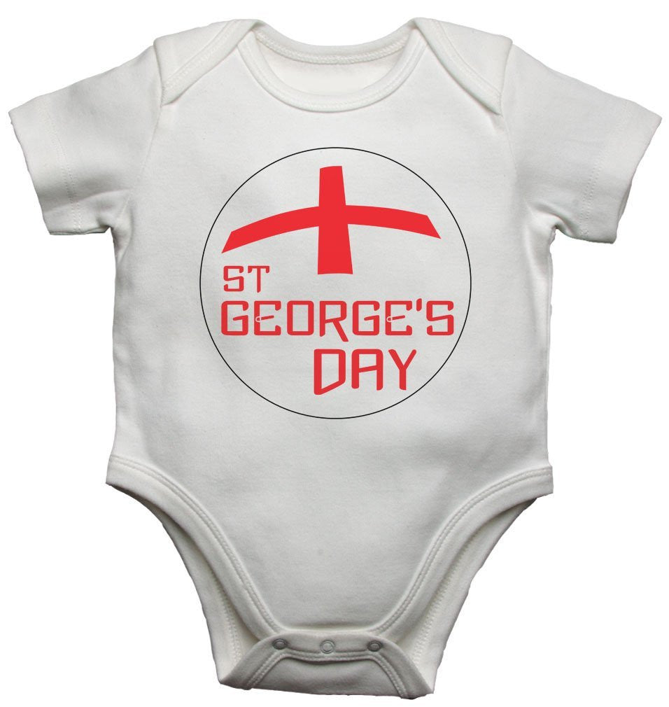 St Georges Day Baby Vests Bodysuits