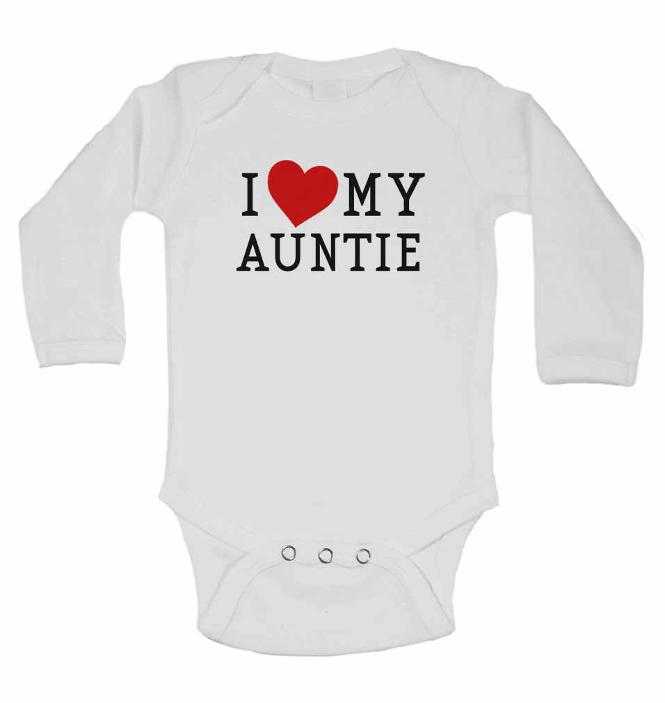 I Love My Auntie - Long Sleeve Baby Vests for Boys & Girls