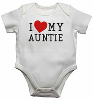 I Love My Auntie - Baby Vests Bodysuits for Boys, Girls